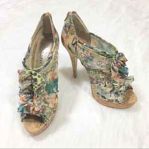Chinese Laundry Heart Throb Floral Cork Heels